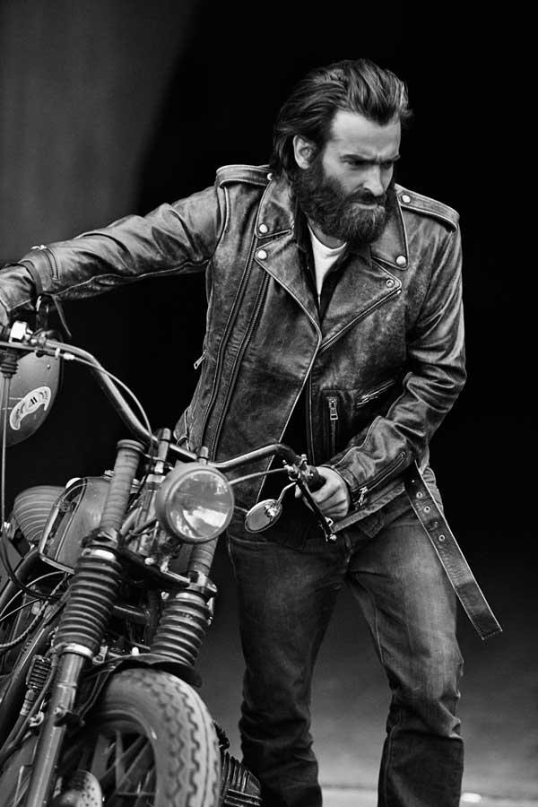 Motorbike leather jacket - Blitz motorbike