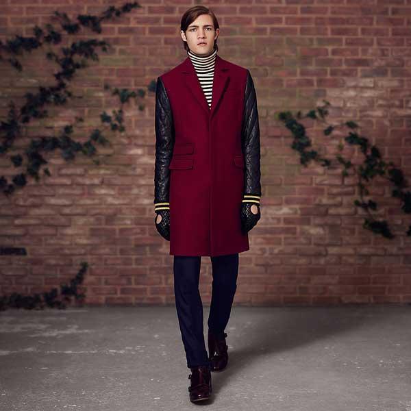 Tommy Hilfiger burgundy long winter coat