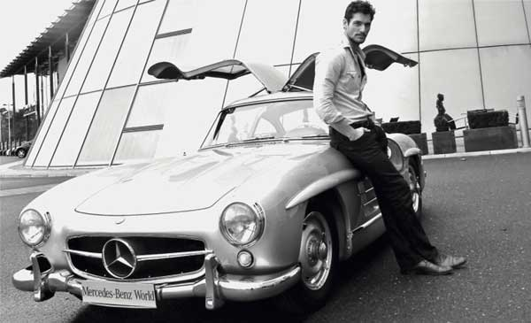 David Gandy British Model Mercedes Gullwing