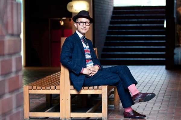 Katsuhiro Inn - wearing roll-ups or-cuffed trousers