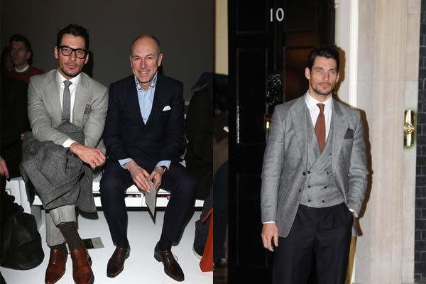 David Gandy with Dylan Jones London Collections Men 2013 - 2