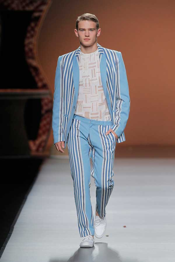 Ion Fiz -  pale blue stripe suit