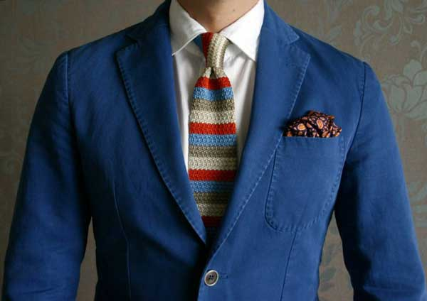 TIes - Knitted ties for men - striped and colourful