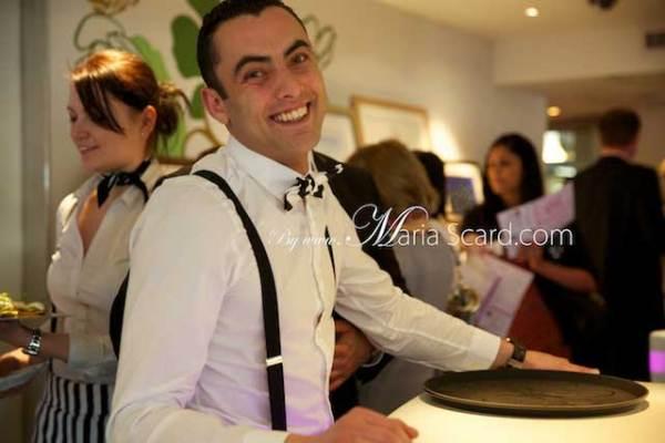 Harvey Nichols - bar staff in action - wearing braces / suspenders