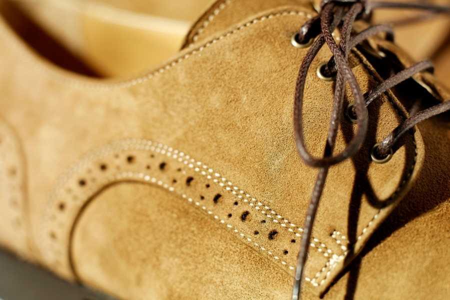 Wingtip Derby Suede Shoes