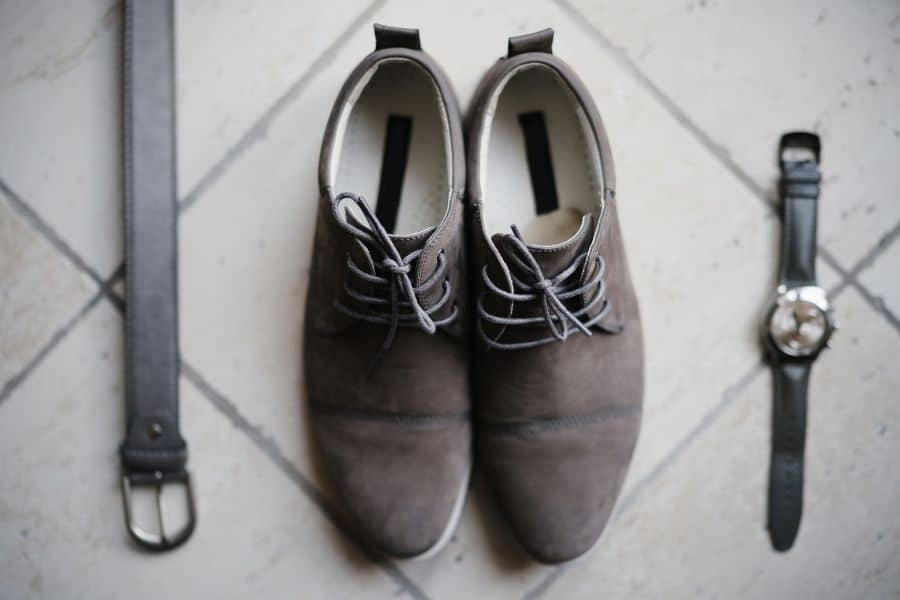 Wingtip Derby Suede Shoes grey