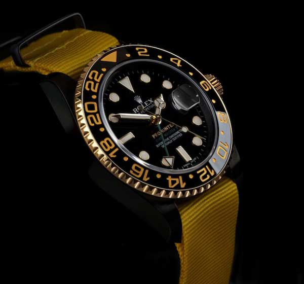 Rolex GMT Master 2 Pro Hunter yellow strap