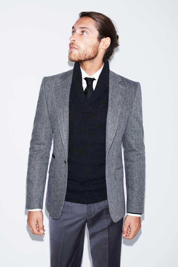 zara man - grey suit from zara 2013