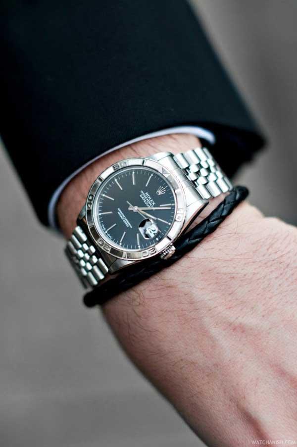 Shiny Rollie Rolex Silver