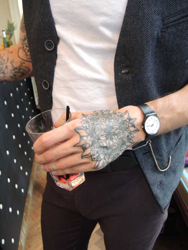 Tattoo for Men - Shoreditch 2013 - Hand tattoo