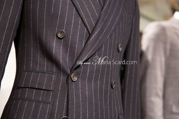 Marks & Spencer Pinstripe Suits at London Collections Men