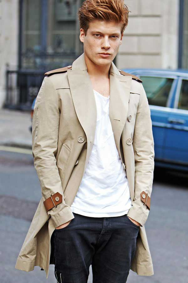 Jonny Burt wearing the Classic Burberry Jacket