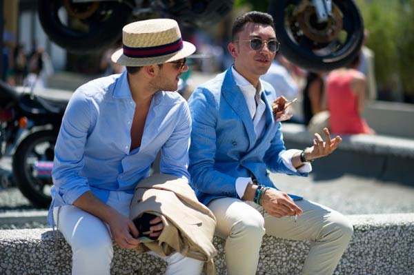 Polo Shirts - with a Blazer Pitti Uomo