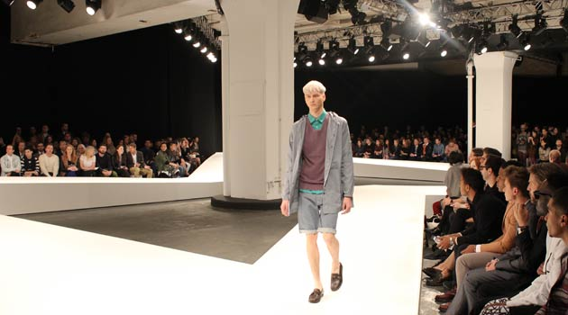 YMC - Catwalk for 2014 at London Collections Men