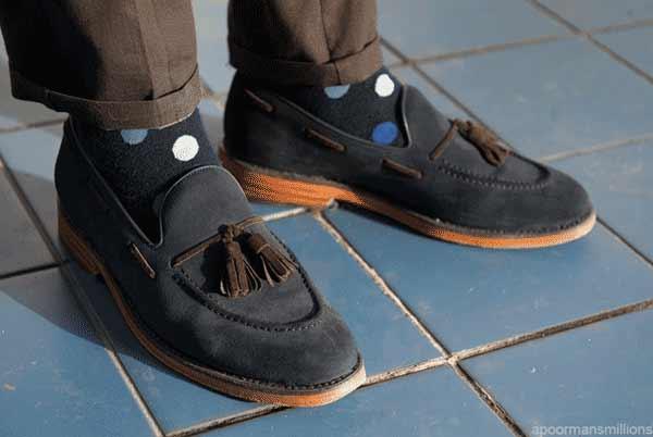 Socks polka dots for men