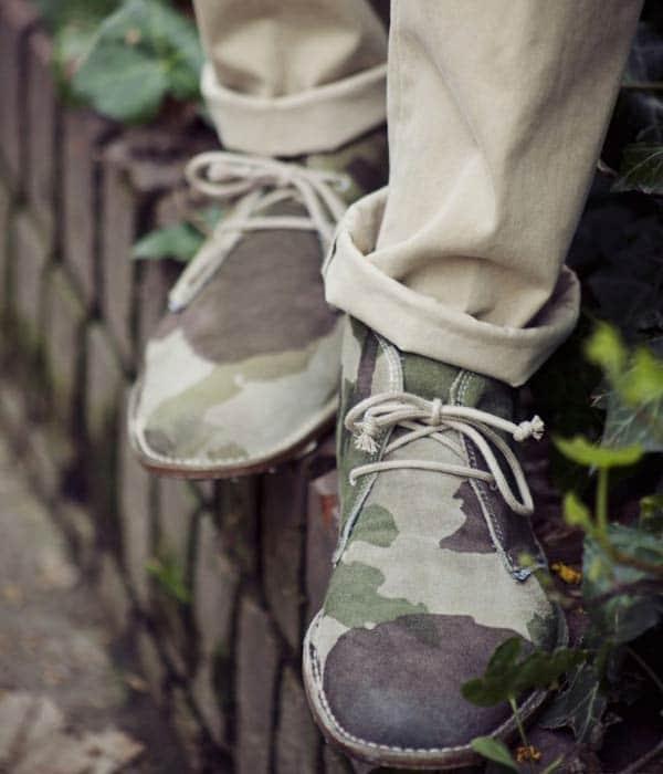Camo Desert Boots Roll Ups