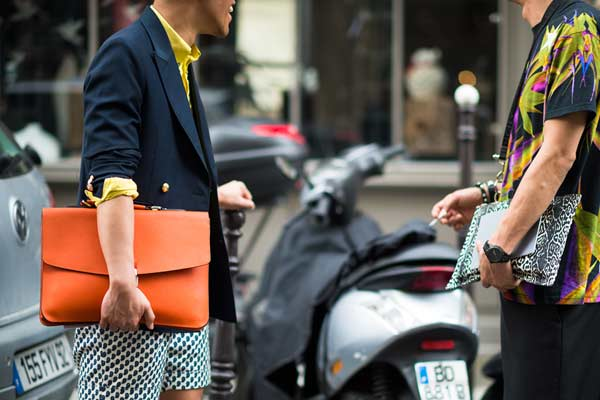 Clutch man bag for men leopard print