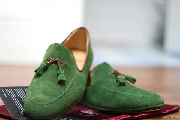 Emerald Suede Slippers