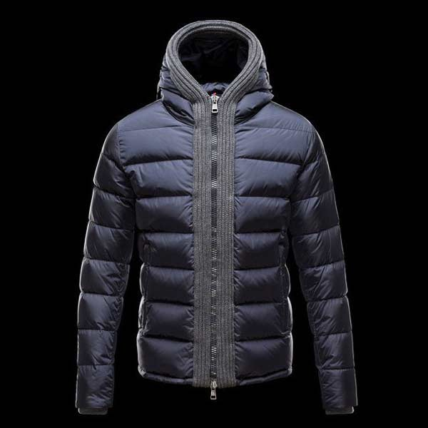Moncler navy blue padded-jacket