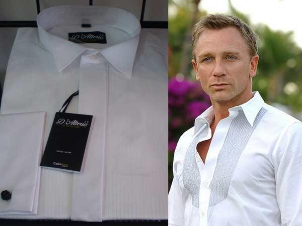 Daniel Craig-wearing a classic white shirt