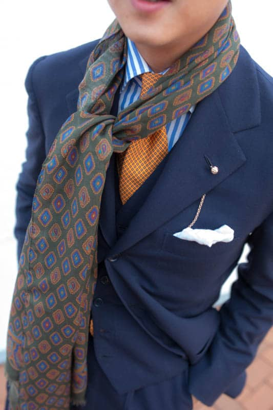 Ties for men orange