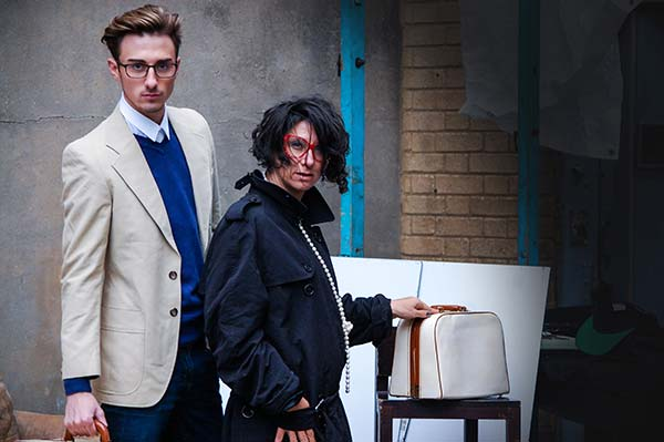Conor Scurlock and Gracie Opulanza posing for menstylefashion article junk-yard Fashion