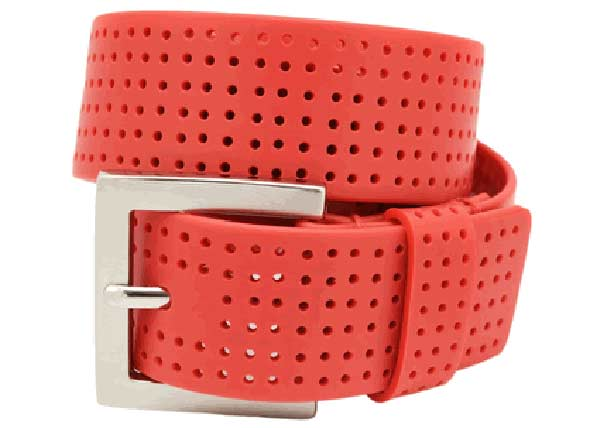 mens leather belts red