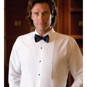 Men's Tuxedo Lay Down Collar Shirt