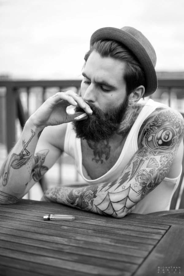 Ricki-Hall-Tattoo-and-Beard-Male-Model-