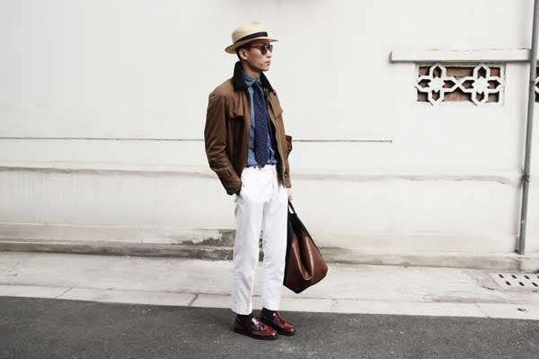 White Chinos - for men