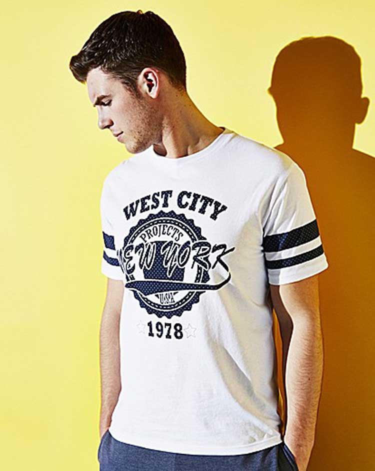 Label J baseball tshirt - jacamo