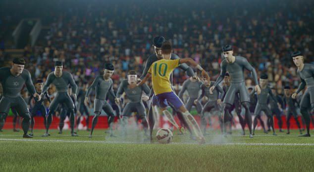 Neymar Showing of his ball skills
