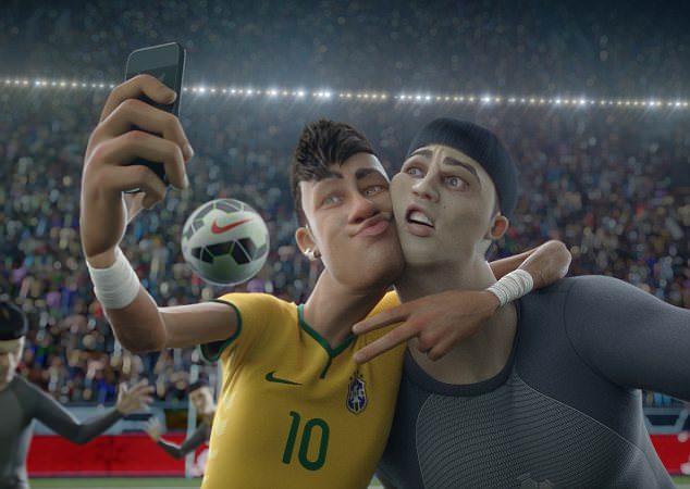 Neymar takes Selfie