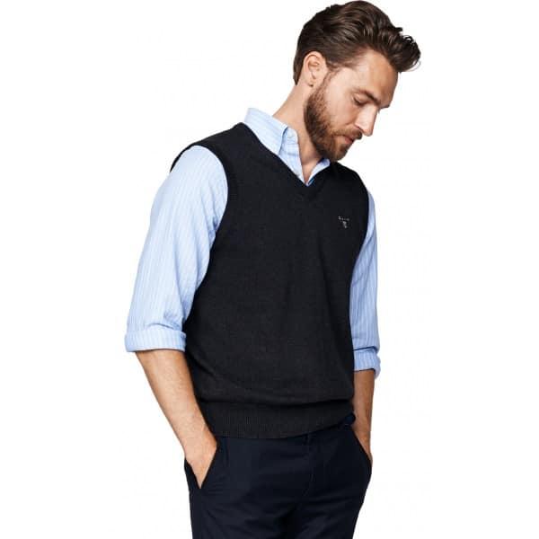 Gant knitwear Solid Cotton Slipover