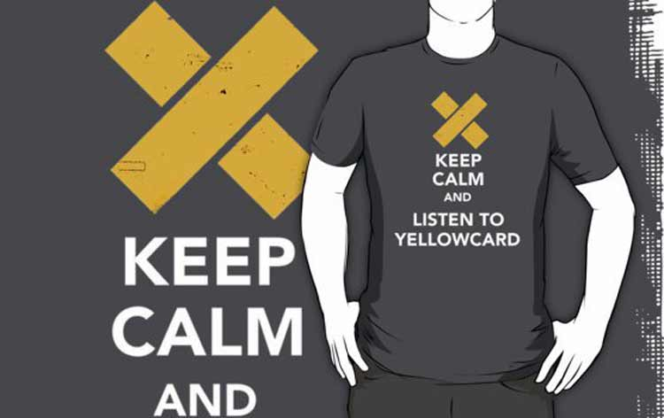 Yellow Card Keep Calm T-shirt