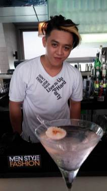 Lychee Rose Cocktail prepaired by SkyBar staff