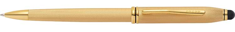 Townsend Stylus - Brushed 23KT-Gold-Plate Ball Point £145
