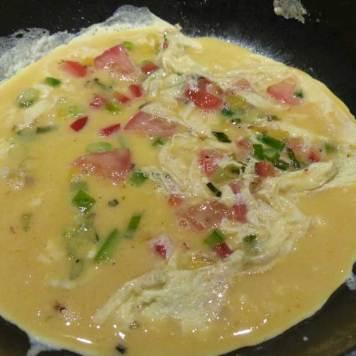 Freshly prepared omelette