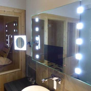 Mirror with TV plus Private Sauna