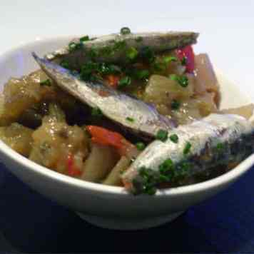 Sardines with grilled vegetables