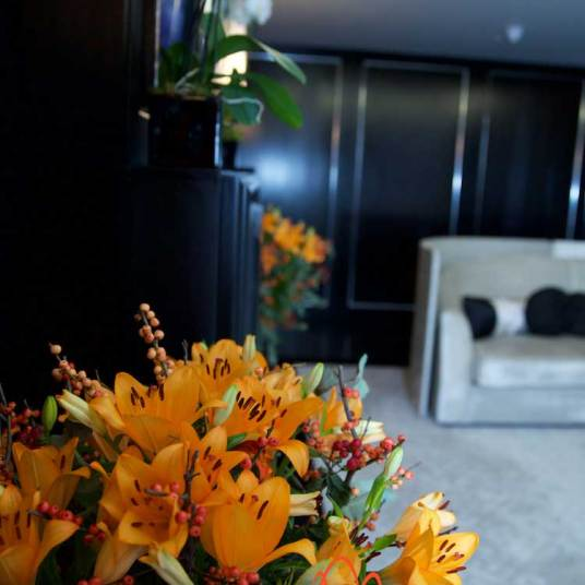 Flowers throughout the Mayfair Penthouse