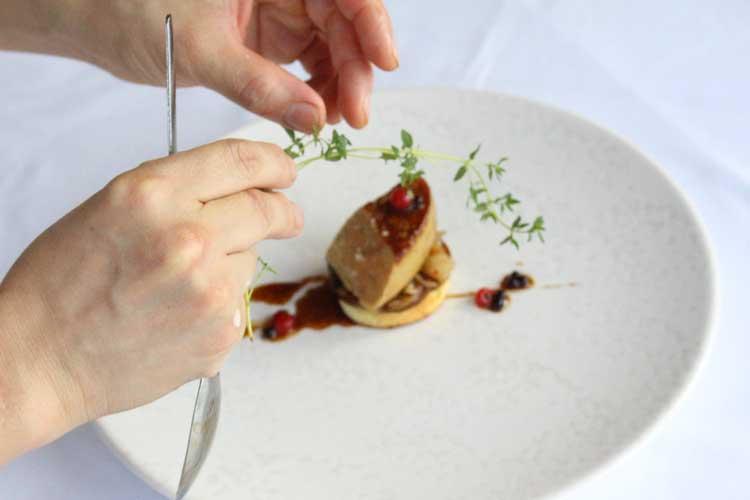 seared-fois-gras-toasted-brioche-mushrooms-fricassei%c2%81e-kimchi6-courtesy-of-galvin-at-windows