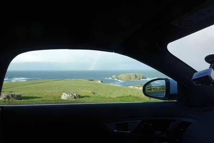 Jaguar F-type convertible causeway coastal Route Northern Ireland