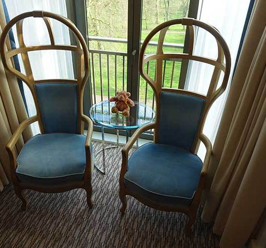 Chairs in the Bay window area