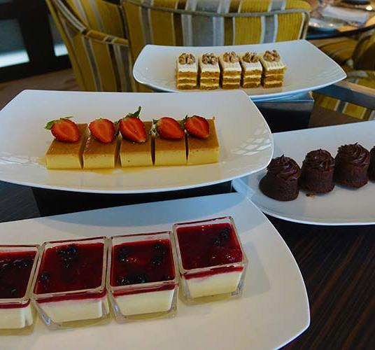Selection of pastry delights from our trolley