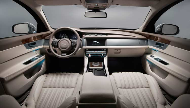 Jaguar XF Sportbrake reveal interior