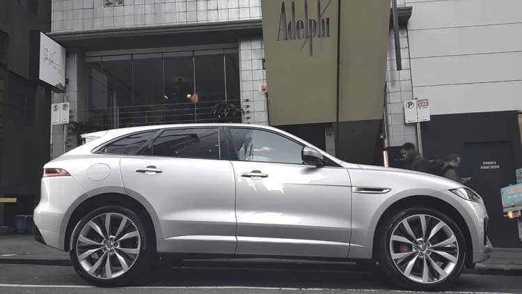 Adelphi Hotel Melbourne - Flinders Lane Boutique Review Jaguar F-Pace