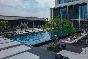 W Taipei hotel review WET pool area (2)