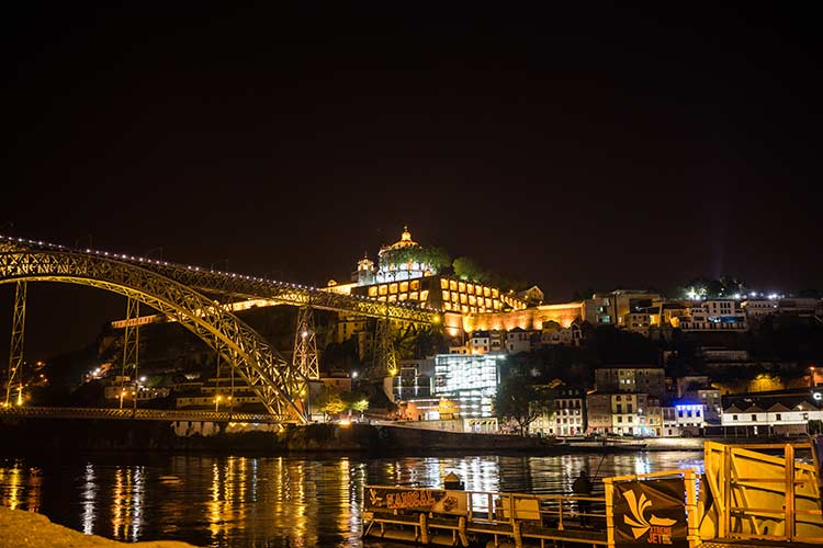 magical Porto portugal by night