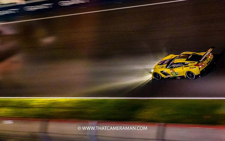 Le Mans 24 Hours- It's More Than Just Racing At night Corvette